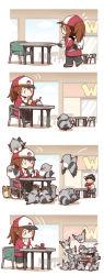 1boy 1girl 4koma azuma_minatsu backpack bag baseball_cap bird comic eating female_protagonist_(pokemon_go) food french_fries hamburger hat highres male_protagonist_(pokemon_go) odd_one_out pidgey pidove pigeon pokemon pokemon_go silent_comic sitting