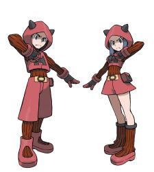 1boy 1girl absurdres highres npc_trainer official_art pokemon pokemon_oras team_magma team_magma_grunt team_magma_grunt_(remake)
