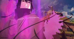 animated animated_gif badass black_hair epic heterochromia male_focus naruto tagme uchiha_sasuke