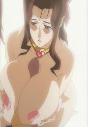 angel_blade angel_blade_punish breasts brown_hair huge_breasts kyoka_(angel_blade) mole nipples paizuri