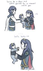 baby blue_hair dual_persona father_and_daughter fire_emblem fire_emblem:_kakusei krom lucina nintendo shinyv smile tagme time_paradox