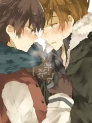 2boys male_focus multiple_boys ookido_green pokemon red_(pokemon) yaoi