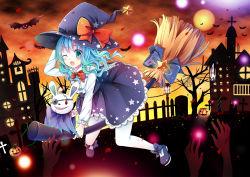 1girl blue_hair date_a_live gyaza halloween yoshino_(date_a_live) yoshinon