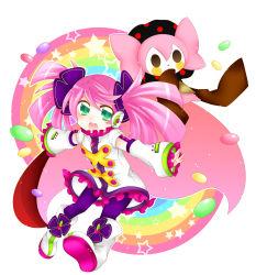 absurdres charlotte_(madoka_magica) green_eyes haruka_nana highres mahou_shoujo_madoka_magica pink_hair sorakase_sawa utau