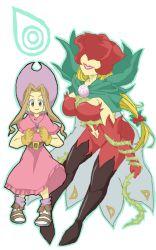 1girl cowboy_hat digimon digimon_adventure dress gloves hat rosemon stampede_string tachikawa_mimi vine