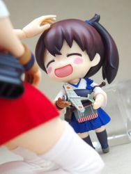 akagi_(kantai_collection) chibi kaga_(kantai_collection) kantai_collection nendoroid photo