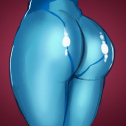 1girl ass bodysuit close-up from_behind lowres metroid pov_ass samus_aran skin_tight solo the_golden_smurf zero_suit