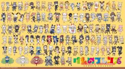 6+girls aardwolf_(kemono_friends) african_elephant_(kemono_friends) african_golden_wolf_(kemono_friends) african_wild_dog_(kemono_friends) alaskan_sea_otter_(kemono_friends) alpaca_suri animal_ears animal_print annotated antlers apron arabian_oryx_(kemono_friends) armor asian_golden_cat_(kemono_friends) aurochs_(kemono_friends) bald_eagle_(kemono_friends) barbary_lion_(kemono_friends) bat_wings bear_ears bearded_seal_(kemono_friends) bird_tail bird_wings black-tailed_prairie_dog_(kemono_friends) black_hair black_jaguar_(kemono_friends) black_panther_(kemono_friends) black_rhinoceros_(kemono_friends) black_wings blonde_hair bobcat_(kemono_friends) bow bowtie brown_bear_(kemono_friends) brown_hair byakko_(kemono_friends) campo_flicker_(kemono_friends) cape_porcupine_(kemono_friends) caracal_(kemono_friends) cat_(kemono_friends) cat_ears cat_tail cheetah_(kemono_friends) chibi cougar_(kemono_friends) cow_ears cow_tail crested_ibis_(kemono_friends) donkey_(kemono_friends) emperor_penguin_(kemono_friends) eurasian_beaver_(kemono_friends) eurasian_eagle_owl_(kemono_friends) eurasian_lynx_(kemono_friends) ezo_red_fox_(kemono_friends) feathered_wings feathers fennec_(kemono_friends) fins fish_tail fox_ears fox_tail frilled_lizard_(kemono_friends) fur_collar genbu_(kemono_friends) gentoo_penguin_(kemono_friends) giant_armadillo_(kemono_friends) giant_pangolin_(kemono_friends) gloves golden_jackal_(kemono_friends) golden_snub-nosed_monkey_(kemono_friends) grey_wolf_(kemono_friends) grizzly_bear_(kemono_friends) habu_(kemono_friends) hat hawk_(kemono_friends) head_wings hippopotamus_(kemono_friends) holstein_friesian_cattle_(kemono_friends) horns horse_ears horse_tail humboldt_penguin_(kemono_friends) indian_elephant_(kemono_friends) indian_rhinoceros_(kemono_friends) iriomote_cat_(kemono_friends) jaguar_(kemono_friends) japanese_black_bear_(kemono_friends) japanese_otter_(kemono_friends) japanese_wolf_(kemono_friends) jinmen-gyo_(kemono_friends) jungle_crow_(kemono_friends) kemono_friends king_cheetah_(kemono_friends) koala_(kemono_friends) kyuubi_(kemono_friends) lance leopard_(kemono_friends) leopard_print lion_(kemono_friends) lion_ears lion_tail lizard_tail long_hair long_sleeves malayan_tapir_(kemono_friends) mammoth_(kemono_friends) maned_wolf_(kemono_friends) margay_(kemono_friends) monkey_ears monkey_tail moose_(kemono_friends) multicolored_hair multiple_girls north_american_beaver_(kemono_friends) north_american_beaver_(kemono_friends_game) northern_white-faced_owl_(kemono_friends) nutria_(kemono_friends) ocelot_(kemono_friends) oinari-sama_(kemono_friends) okapi_(kemono_friends) okinawa_rail_(kemono_friends) open_mouth otter_(kemono_friends) panda_(kemono_friends) panda_ears panther_chameleon_(kemono_friends) paws peach_panther_(kemono_friends) peafowl_(kemono_friends) personification platypus_(kemono_friends) pleated_skirt polar_bear_(kemono_friends) polearm przewalski's_horse_(kemono_friends) raccoon_(kemono_friends) raccoon_ears raccoon_tail racket red_kangaroo_(kemono_friends) red_panda_(kemono_friends) reindeer_(kemono_friends) reindeer_ears reticulated_giraffe_(kemono_friends) rock_pigeon_(kemono_friends) rockhopper_penguin_(kemono_friends) royal_penguin_(kemono_friends) sand_cat_(kemono_friends) scarf scarlet_ibis_(kemono_friends) seiryuu_(kemono_friends) serval_(kemono_friends) serval_ears serval_print serval_tail sheep_(kemono_friends) sheep_ears shiisaa_lefty shiisaa_right shoebill_(kemono_friends) short_hair sika_deer_(kemono_friends) silver_fox_(kemono_friends) skirt smilodon_(kemono_friends) snake_tail southern_tamandua_(kemono_friends) spotted_skunk_(kemono_friends) striped_tail suzaku_(kemono_friends) sword tail tanuki_(kemono_friends) tapir_ears tapir_tail tasmanian_devil_(kemono_friends) thomson's_gazelle_(kemono_friends) tibetan_sand_fox_(kemono_friends) tiger_(kemono_friends) tiger_ears tiger_tail tsuchinoko_(kemono_friends) two-tone_hair water_deer_(kemono_friends) weapon white_peafowl_(kemono_friends) white_rhinoceros_(kemono_friends) white_tiger_(kemono_friends) wings wolf_ears wolf_tail yamata_no_orochi_(kemono_friends) yatagarasu_(kemono_friends) yoshizaki_mine zebra_(kemono_friends) zebra_print