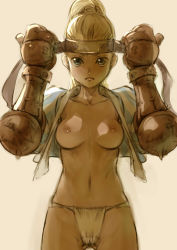 1girl branch_(blackrabbits) breasts final_fantasy_tactics fundoshi samurai_(fft)