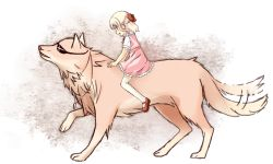1girl artist_request blonde_hair character_request diabolik_lovers dress loli sketch tagme wolf