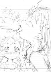 blush fellatio happy loli massiro monochrome sketch tagme toddlercon tongue