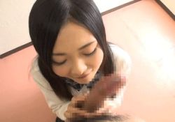 1boy 1girl animated animated_gif asian censored erection fellatio from_above licking oral penis photo pov tongue