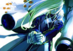 1girl blonde_hair blue_eyes fullmetal_alchemist gloves hair_over_one_eye lips long_hair military military_uniform olivier_mira_armstrong sword uniform weapon zwollowz