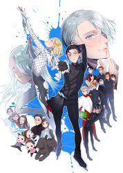 character_request katsuki_yuuri multiple_boys multiple_girls tagme viktor_nikiforov yuri!!!_on_ice yuri_plisetsky