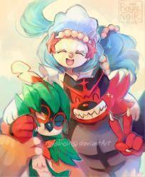 claws decidueye everyone incineroar lowres no_humans pokemon pokemon_(game) pokemon_sm primarina royalnoir