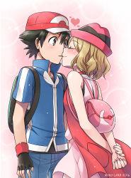 1boy 1girl hetero highres kiss mono_land pokemon pokemon_(anime) satoshi_(pokemon) serena_(pokemon) spoilers