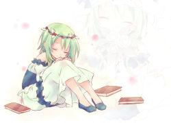1girl eyes_closed green_hair gumi kuroi_(liar-player) short_hair solo vocaloid
