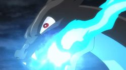 animated animated_gif charizard dragon groudon mega_charizard_x mega_pokemon no_humans pokemon pokemon_(anime) primal_groudon reptile