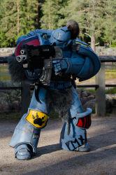 1boy adeptus_astartes cosplay photo space_marines space_wolves warhammer_40k