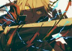 1boy blonde_hair edward_elric fullmetal_alchemist long_hair ponytail solo yellow_eyes zwollowz