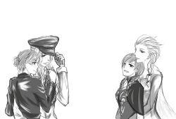 4girls anna_(frozen) character_request couple elsa_(frozen) frozen_(disney) happy highres incest monochrome multiple_girls sailen siblings sisters yuri