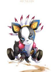blue_eyes dog fusion iggy_(jojo) jojo_no_kimyou_na_bouken no_humans stand_(jojo) the_fool trudy0816
