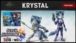 1boy 2girls bodysuit furry krystal link metroid miiverse multiple_girls nintendo samus_aran staff star_fox super_smash_bros. the_legend_of_zelda