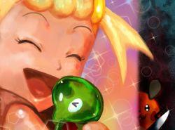 1girl artist_request dedenne eureka_(pokemon) knife pokemon pokemon_(anime) pokemon_(game) tagme yandere zygarde zygarde_core