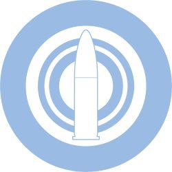 bullet close-up concentric_circles emblem girls_und_panzer heita0524 highres no_humans selection_university_(emblem) simple_background white_background