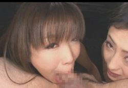 :>= animated animated_gif deepthroat fellatio multiple_girls oral photo source_request