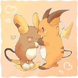 alolan_raichu artist_request black_eyes furry hug pokemon raichu