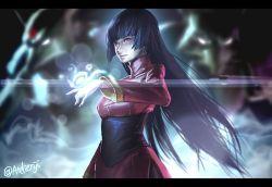 ag+_(atelieriji) alakazam glowing glowing_eyes gym_leader kadabra natsume_(pokemon) pokemon purple_hair red_eyes