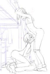 2boys animated animated_gif bouncing_penis erection fellatio male monochrome multiple_boys original trap trap_x_trap yaoi
