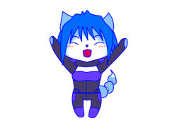 1girl bodysuit furry krystal nintendo simple_background solo star_fox tail