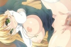 animated animated_gif blonde_hair blush breasts breasts_outside censored cross huge_breasts long_hair love_colon moaning nipples nun open_legs penis pussy sex spread_legs stitched thighhighs vaginal