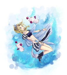 1girl blue_eyes bow breasts cape detached_sleeves dissidia_012_final_fantasy dissidia_final_fantasy dress earrings elbow_gloves final_fantasy final_fantasy_vi gloves green_hair hair_ribbon jewelry long_hair pantyhose ponytail ribbon solo strapless strapless_dress tina_branford