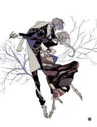 1boy 1girl barefoot bone couple dancing dress formal hetero highres jacket_on_shoulders original qhfl7173 skeleton skull suit