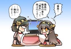 haruna_(kantai_collection) hisahiko kantai_collection kirishima_(kantai_collection) tagme