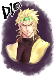 1boy blonde_hair dio_brando headband heart jojo_no_kimyou_na_bouken male red_eyes rosary_(pixiv) solo