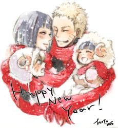 2boys 2girls animal_costume animal_hat artist_name blonde_hair blue_eyes eyes_closed facial_mark family father_and_daughter father_and_son happy_new_year hat husband_and_wife hyuuga_hinata koto_(sugerparade) long_hair mother_and_daughter mother_and_son multiple_boys multiple_girls naruto new_year sheep_costume short_hair smile uzumaki_boruto uzumaki_himawari uzumaki_naruto