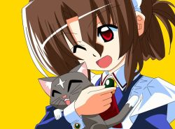 brown_hair cat color hayate_no_gotoku! maid maria red_eyes smile wink