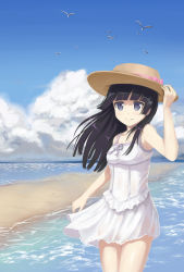 1girl absurdres black_hair dress gokou_ruri hat highres long_hair mole mole_under_eye ookuma_(qq) ore_no_imouto_ga_konna_ni_kawaii_wake_ga_nai
