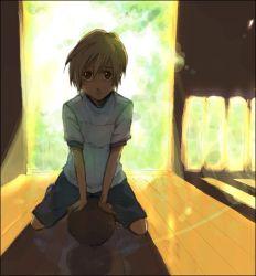 1boy blonde_hair boku_no_pico child pico zaki_mitsunori