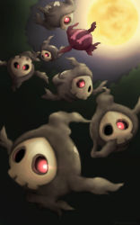 alternate_color cyclops duskull full_moon ghost mask moon no_humans pokemon red_eyes shiny_pokemon