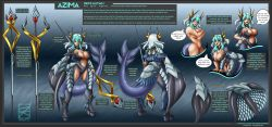 armor breasts character_sheet dkdevil large_breasts monster_girl