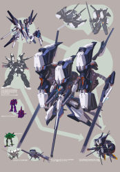 absurdres advance_of_zeta advance_of_zeta_re-boot big_zam brown_background character_sheet dendrobium_schema gundam highres kenki_fujioka mecha no_humans tr-6_woundwort