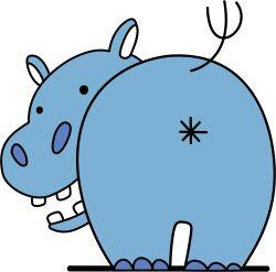 close-up emblem girls_und_panzer heita0524 highres hippopotamus no_humans simple_background white_background