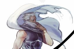 1boy archer bow_(weapon) dark_skin fate/stay_night fate_(series) j_(onjj) scarf solo weapon white_hair