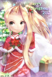 azumi_(tks-sd) blonde_hair christmas gift kid_icarus nintendo smile tagme viridi