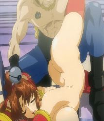 1boy 1girl angel_blade angel_blade_punish animated ass breasts brown_hair eyes_closed fudou_ayame rape